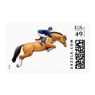 Bay Show Jumper Horse Postage