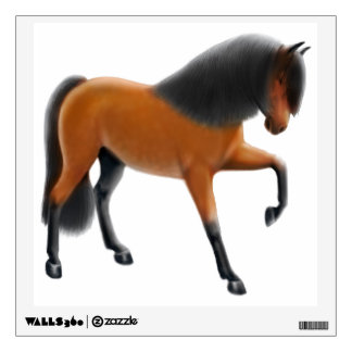 Bay Spanish Andalusian Horse Wall Decal