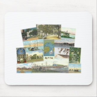Bay St. Louis Collage Mouse Pad