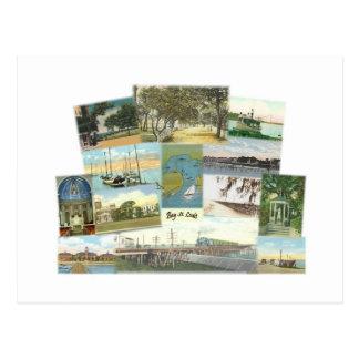 Bay St. Louis Collage Postcard