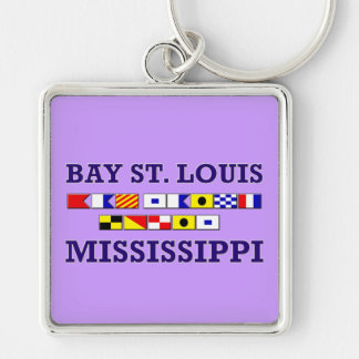 Bay St. Louis - Square Keychain
