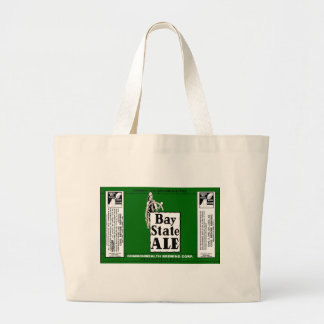 BAY STATE ALE BEER CAN DESIGN COMMONWEALTH BREWING CANVAS BAG