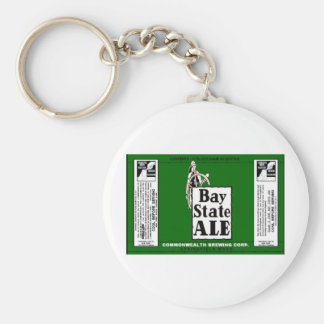 BAY STATE ALE BEER CAN DESIGN COMMONWEALTH BREWING KEYCHAIN