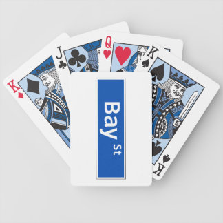 Bay Street, Toronto Street Sign Poker Deck