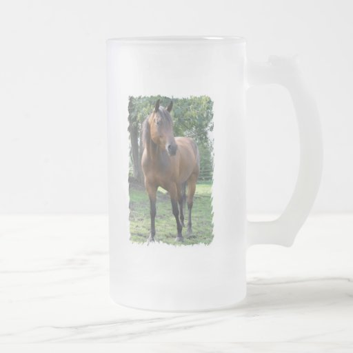 Bay Thoroughbred Horse Frosted Beer Mug