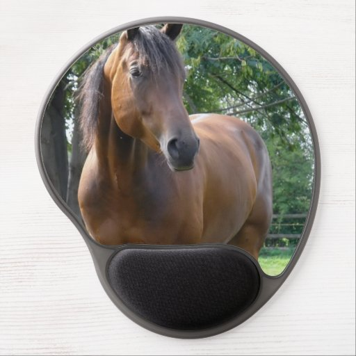 Bay Thoroughbred Horse Gel Mouse Mat