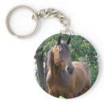 Bay Thoroughbred Horse Keychain