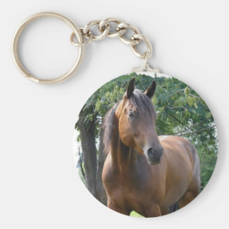Bay Thoroughbred Horse Keychain