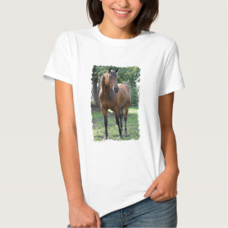 Bay Thoroughbred Horse Ladies Fitted T-Shirt