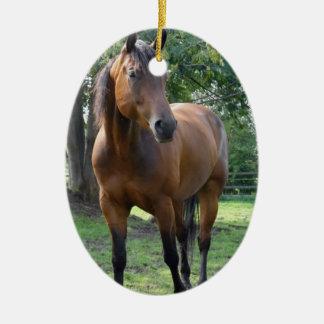 Bay Thoroughbred Horse Ornament