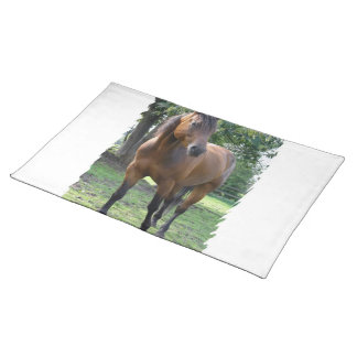 Bay Thoroughbred Horse  Placemat Cloth Placemat