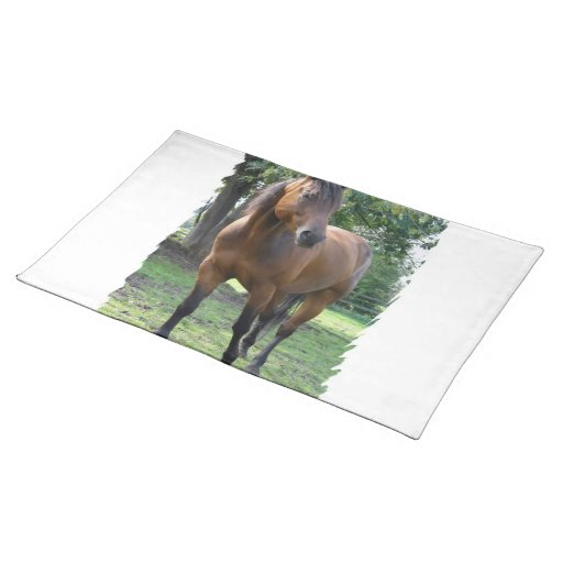 Bay Thoroughbred Horse  Placemat