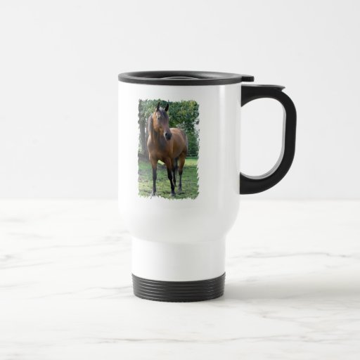 Bay Thoroughbred Horse Plastic Travel Mug