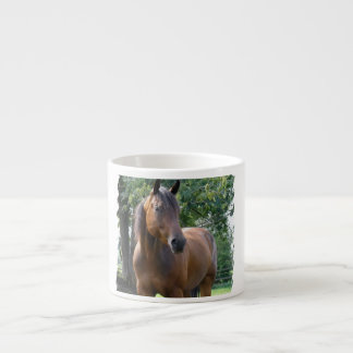 Bay Thoroughbred Horse  Specialty Mug Espresso Cups