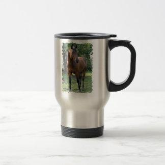 Bay Thoroughbred Horse Stainless Steel Travel Mug