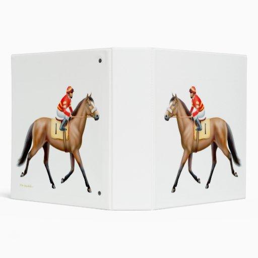 Bay Thoroughbred Race Horse Binder