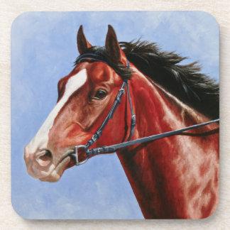 Bay Thoroughbred Race Horse Coaster