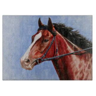 Bay Thoroughbred Race Horse Cutting Board