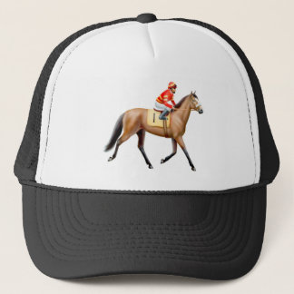 Bay Thoroughbred Race Horse Mesh Hat