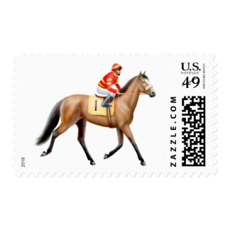Bay Thoroughbred Race Horse Postage