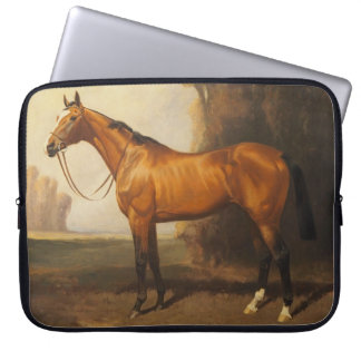Bay Thoroughbred Vintage Painting by James Palmer Laptop Sleeve