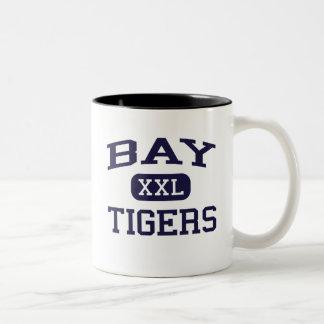 Bay - Tigers - High - Bay Saint Louis Mississippi Two-Tone Coffee Mug