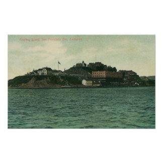 Bay View of Alcatraz Islans and Prison Posters
