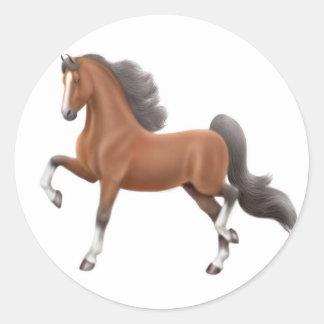 Bay Walking Horse Sticker