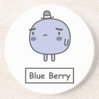 Baya azul posavasos diseño