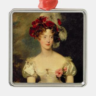 Baya de Marie-Caroline de Borbón Duchesse de Adorno Navideño Cuadrado De Metal
