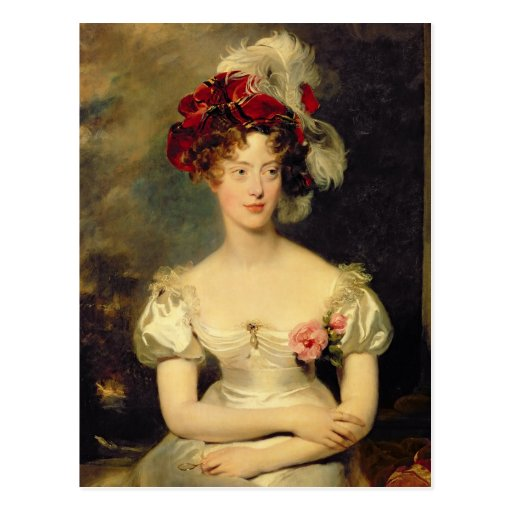 Baya de Marie-Caroline de Borbón Duchesse de Tarjetas Postales
