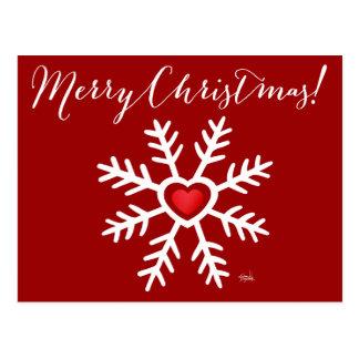 Baya del navidad el | del copo de nieve del corazó tarjetas postales
