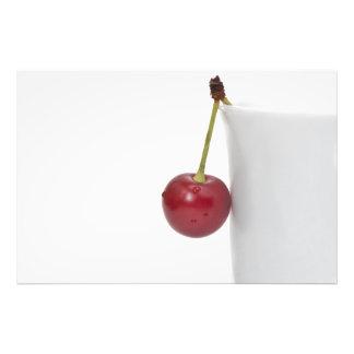 Baya roja de la cereza fotografías