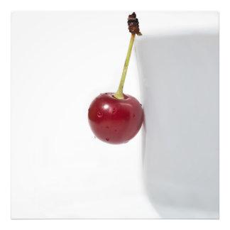 Baya roja de la cereza fotografía