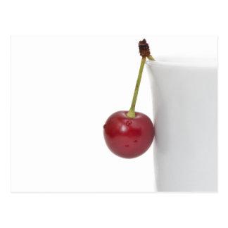 Baya roja de la cereza tarjeta postal
