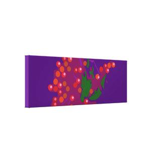 Baya roja impresión en lona