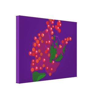 Baya roja lona envuelta para galerías