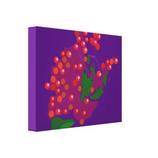 Baya roja lienzo envuelto para galerias