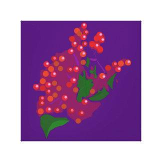 Baya roja impresión en lona estirada