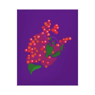 Baya roja impresiones de lienzo