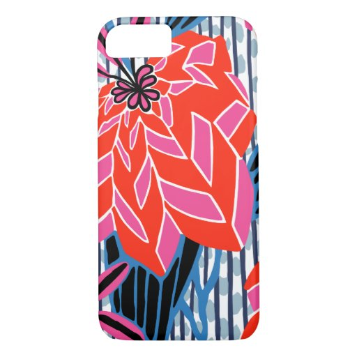 BAYAMO: Art Deco Leaves in Original Deco Colors iPhone 8/7 Case