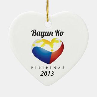 Bayan Ko Heart Flag Heart Ornament