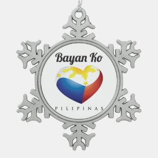 Bayan Ko Pilipinas, Heart Flag Pewter Ornament