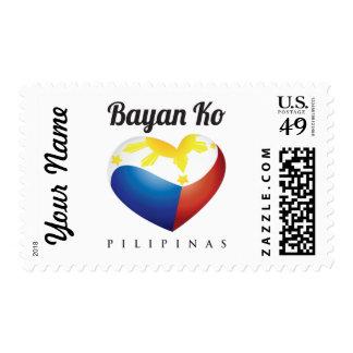 Bayan Ko Pilipinas, Heart Flag Stamp Customize