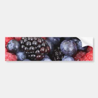 Bayas azules y púrpuras rojas frescas pegatina para auto