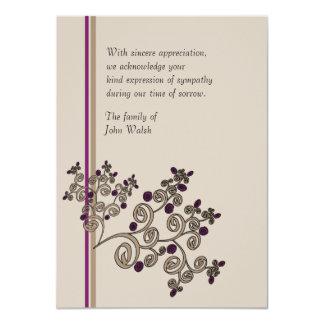 Bayas de enebro - la pérdida le agradece Notecard Invitación Personalizada