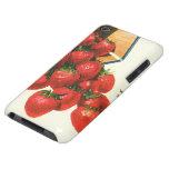 Bayas de la fruta de la comida del vintage, fresas Case-Mate iPod touch protectores