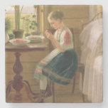Bayas de la peladura del chica, 1880 posavasos de piedra