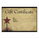 Bayas de la pipa y estrella oxidada remilgadas plantillas de tarjetas de visita