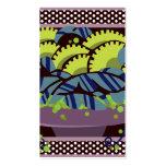 BAYAS de O del CUENCO en color de malva, aguacate  Plantilla De Tarjeta Personal